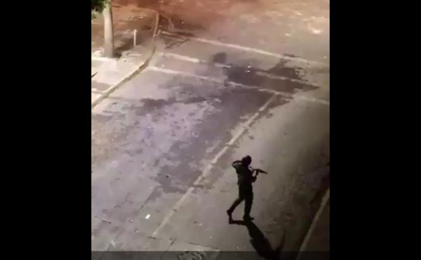 Carabineros realiza disparos 10 minutos antes del toque dequeda