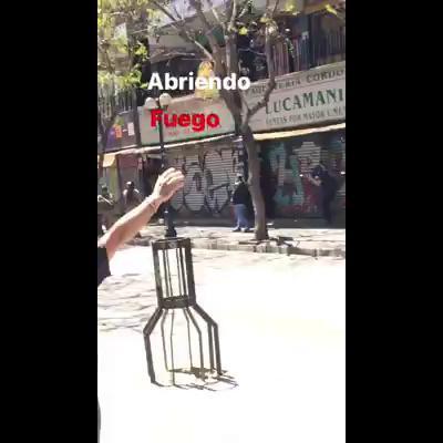 Militares disparan a manifestantes enValparaiso