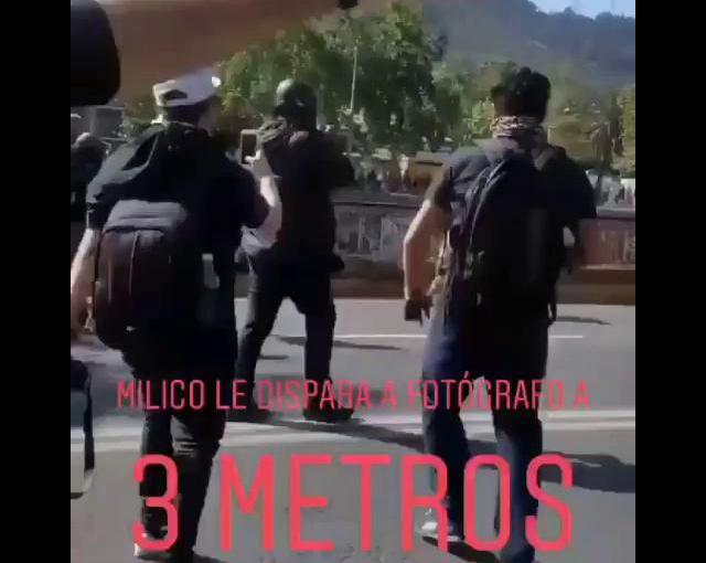 Militar dispara a fotógrafo a menos de 3metros